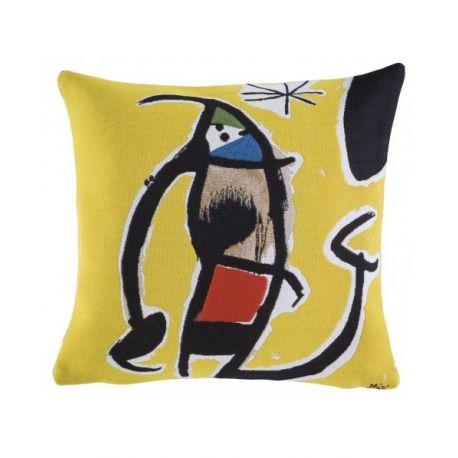 Housse de coussin Femme oiseau étoile, Miró 45*45