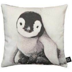Coussin bébé pingouin 30x30