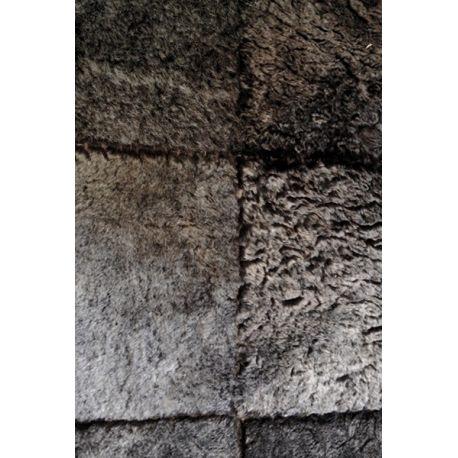 Tapis en carrés d'agneau gris anthracite 240*170