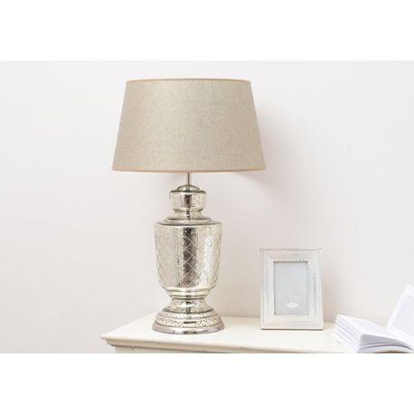 Lampe de table argent vieilli