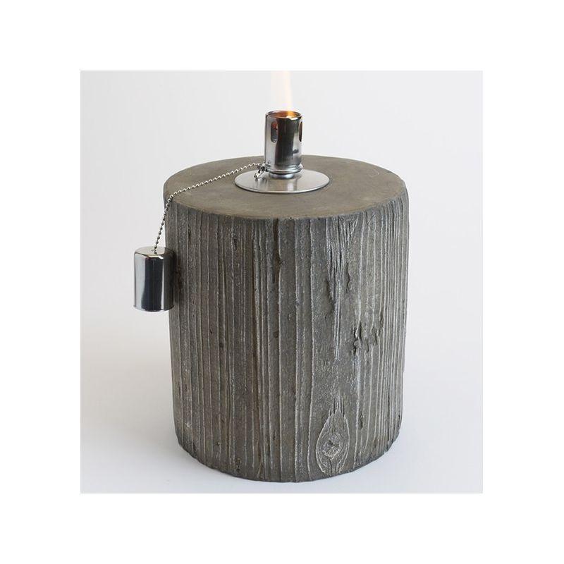 Lampe à huile effet bois H29
