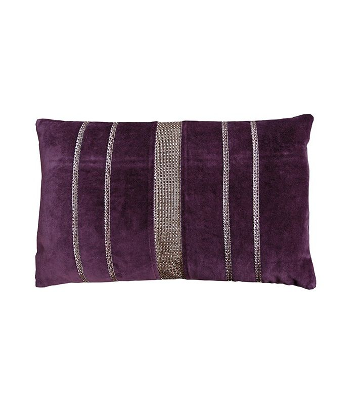 Coussin violet 30*50