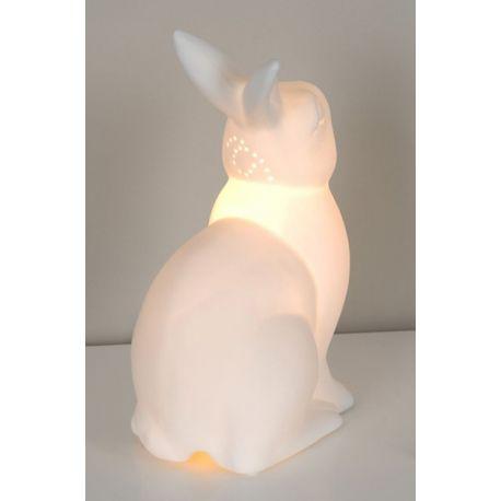 Lampe lapin blanc