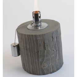 Lampe à huile imitation bois H21