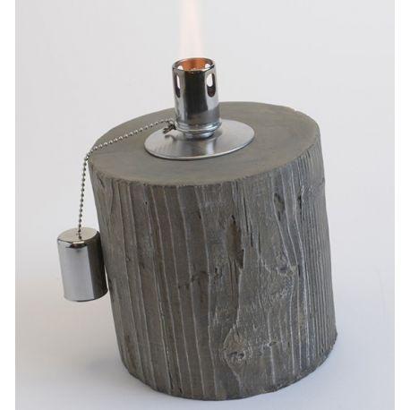 Lampe à huile effet bois H21