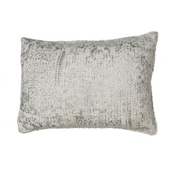 Coussin maille argent 40*60