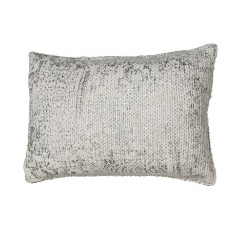 Coussin maille argent 40*60*