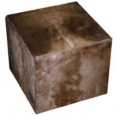 pouf peau de blesbok naturelle 40*40