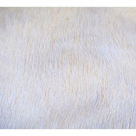 Peau de vache naturelle blanche