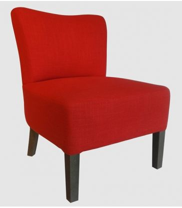 fauteuil pavel rouge