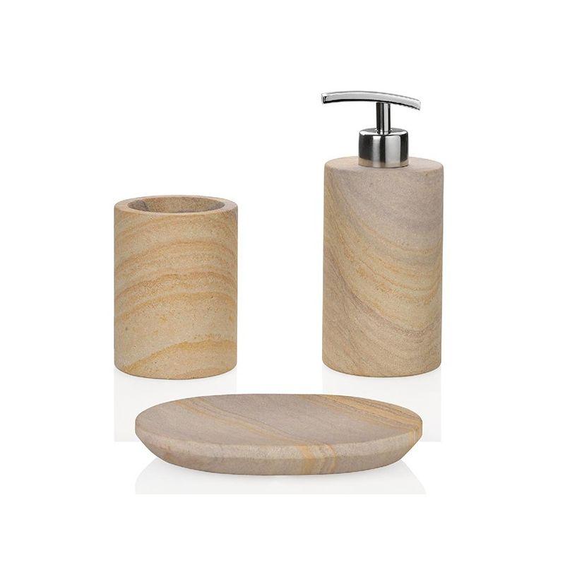Distributeur savon pierre veinée