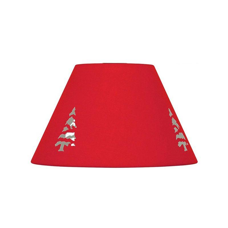 abat jour rouge avec attache haute. Black Bedroom Furniture Sets. Home Design Ideas