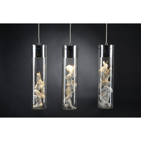 Suspension verre tube set de 3