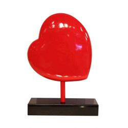 Sculpture coeur rouge