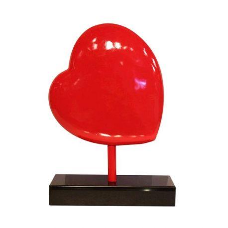 Sculpture coeur rouge