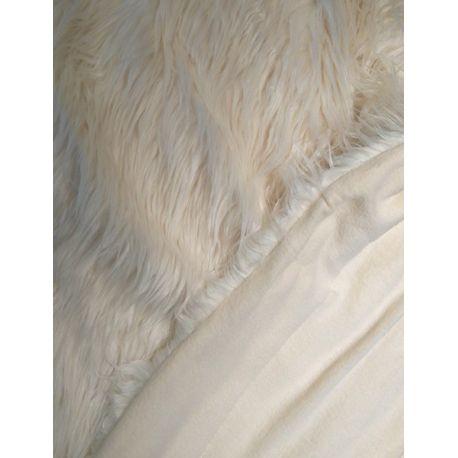 Plaid blanc Yeti 130*160