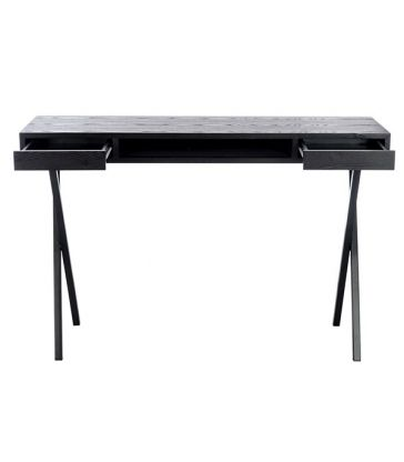 Bureau noir 2 tiroirs