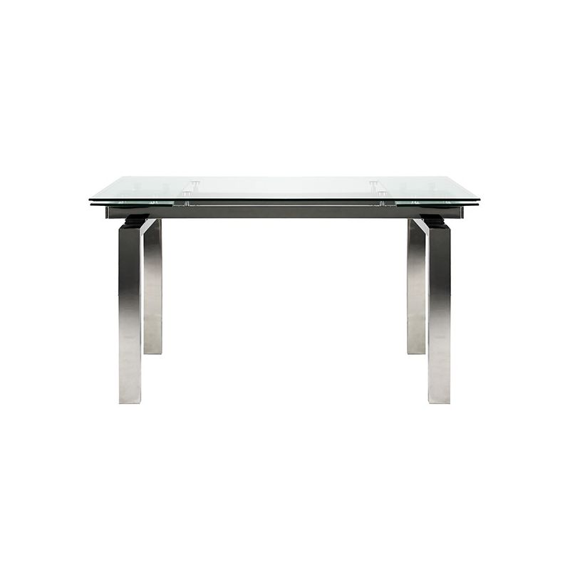 Table en verre extensible for Table extensible 80