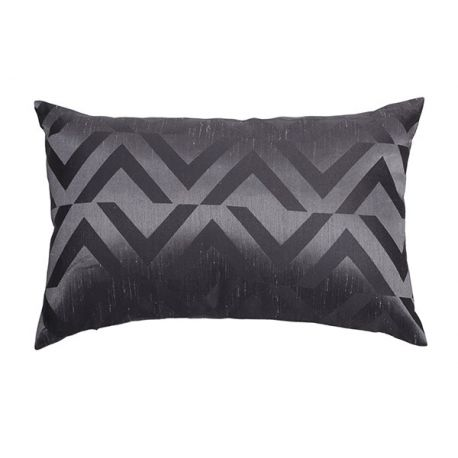 Coussin jacquard anthracite 30*50