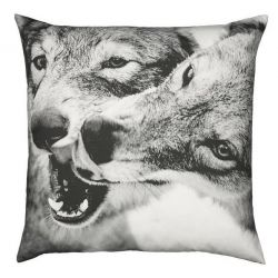Coussin Loups jouant 60x60