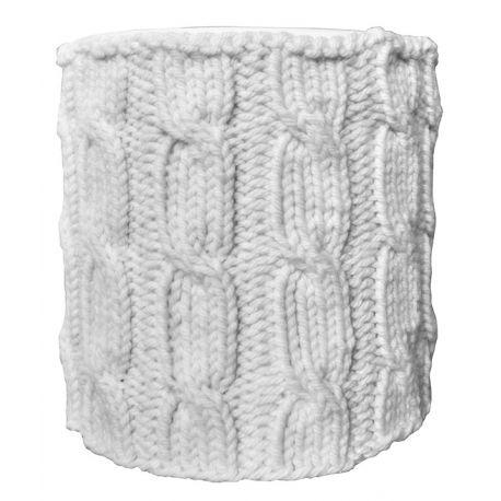 Abat-jour tricot D20 H22 écru