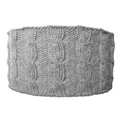 Abat-jour tricot D40 H20 gris clair
