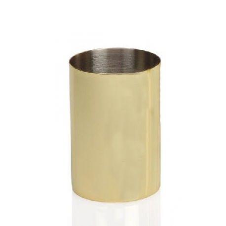 porte brosse à dent or