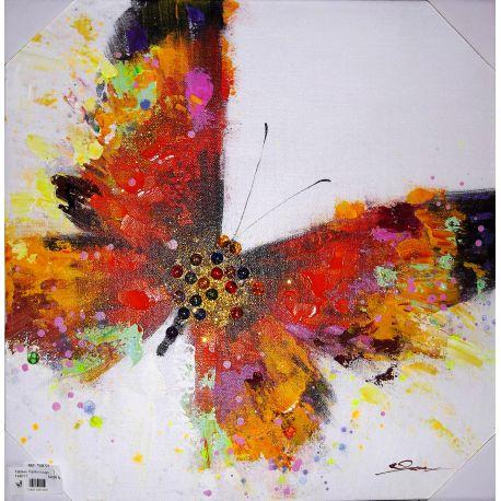 Tableau Papillon rouge 50*50