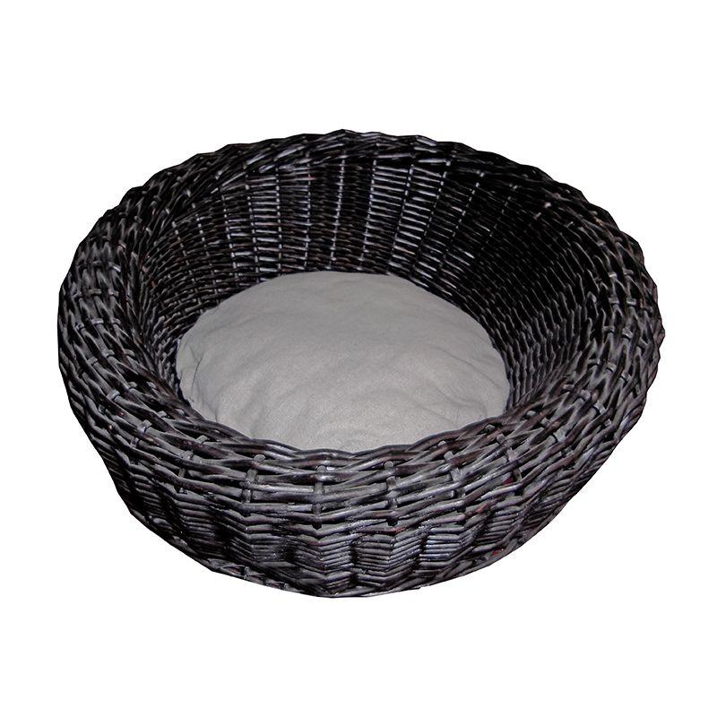 panier pour chien en osier noir. Black Bedroom Furniture Sets. Home Design Ideas