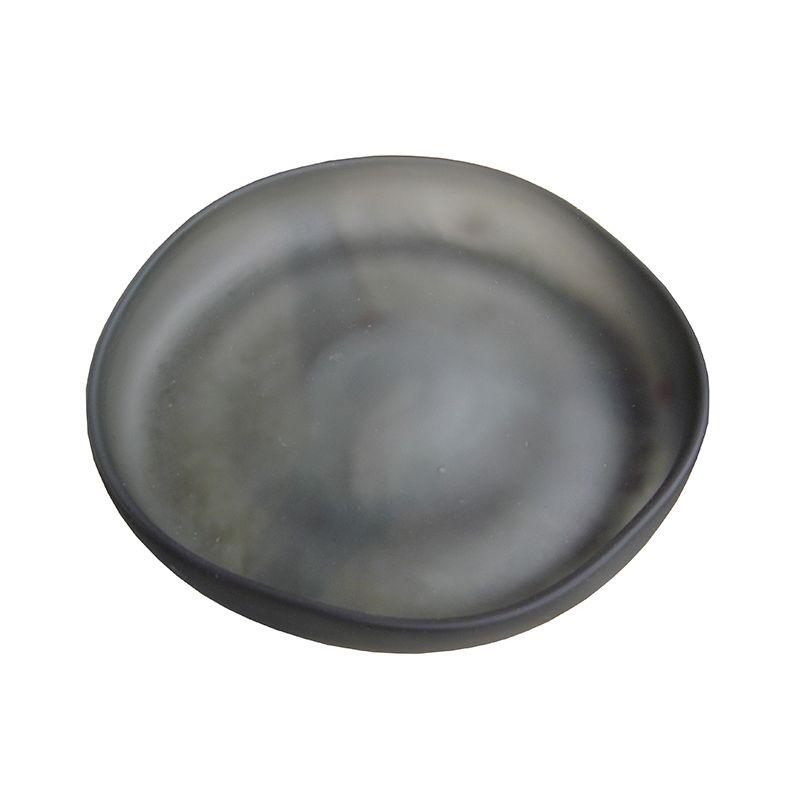 Plat en verre gris Diam 22,5