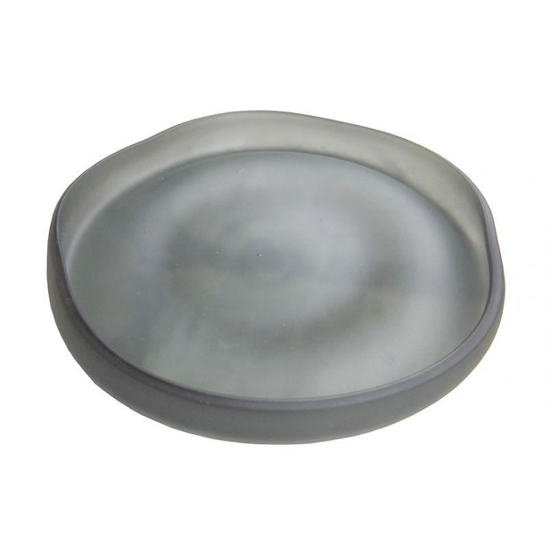 Plat en verre gris Diam 30