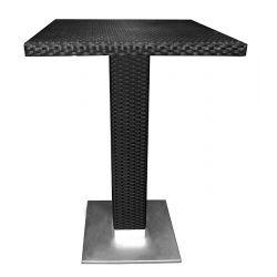 Table haute outdoor70x70 avec verre