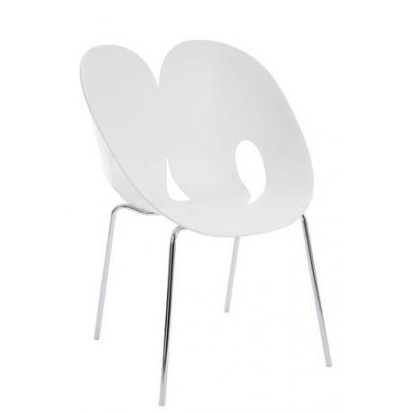 Chaise coque blanche