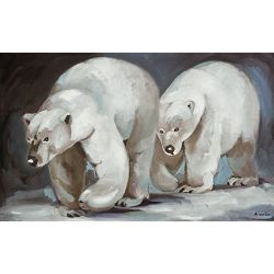 Tableau Duo d'ours polaire