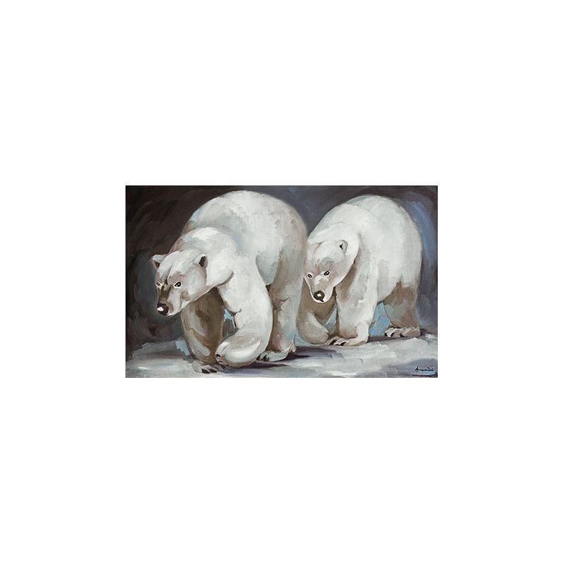 Toile Duo d'ours polaire