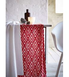 Chemin de table rouge 50x150