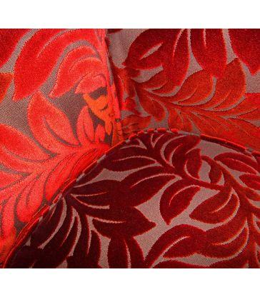 Fauteuil tulipe noir et rouge