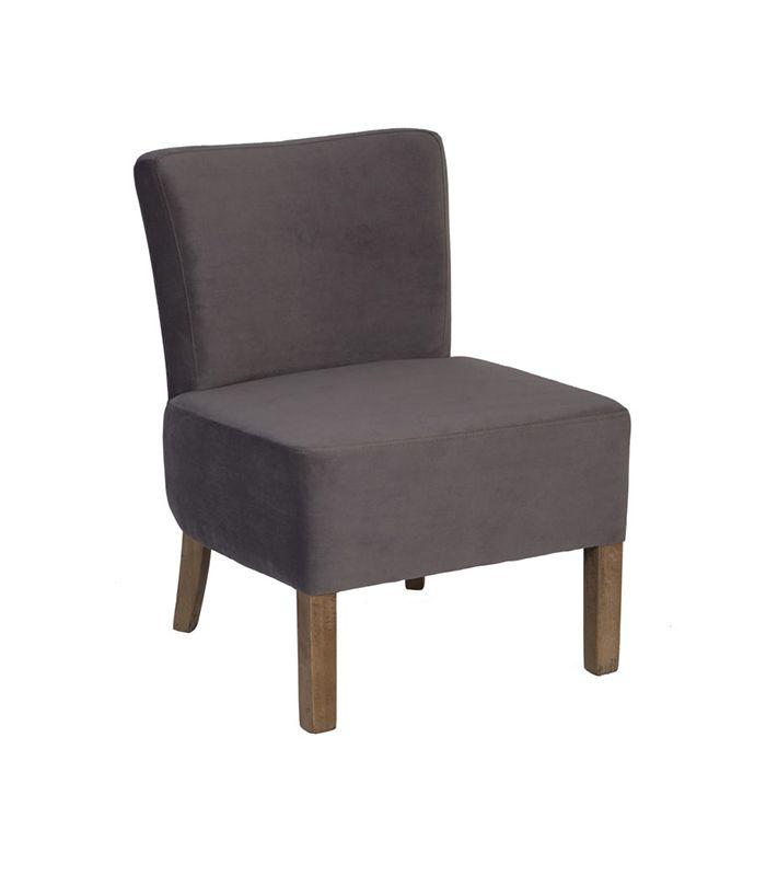 fauteuil d 39 appoint gris marron. Black Bedroom Furniture Sets. Home Design Ideas