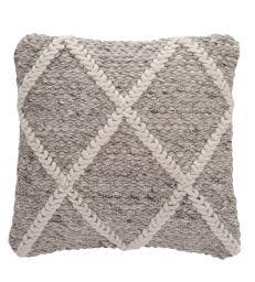 Coussin quadrillé laine