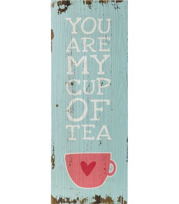 Plaque mur bois tea
