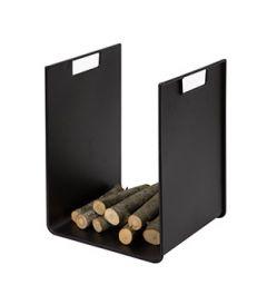 Porte bûches métal noir H39cm