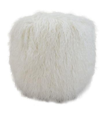 Tabouret agneau du tibet blanc