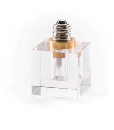 Ampoule à led E27 en cristal blanc