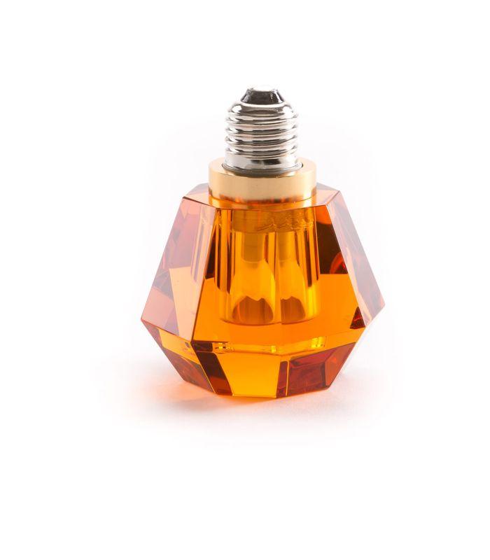 Ampoule à led E27 en cristal orange