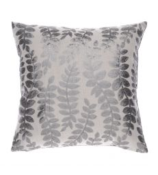 Coussin Feuilles taupe 45x45