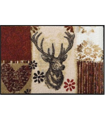 Tapis composition cerf rouge 50x75