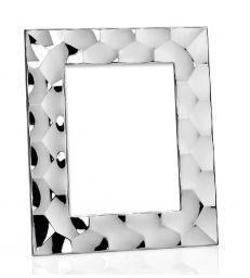 Cadre photo hexagonal argent 10x15