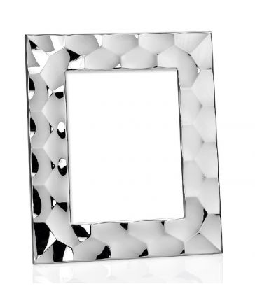 Cadre photo hexagonale argent 10*15