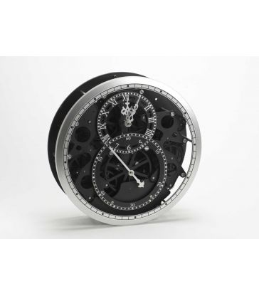 Horloge noir et métal avec mécanisme