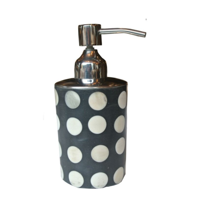 Distributeur de savon liquide odéon à pois blancs